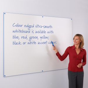 Coloured Edge Whiteboard Blue