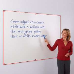 Coloured Edge Whiteboard Red