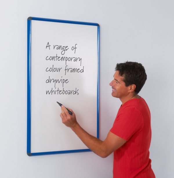 Deluxe contour framed magnetic whiteboard