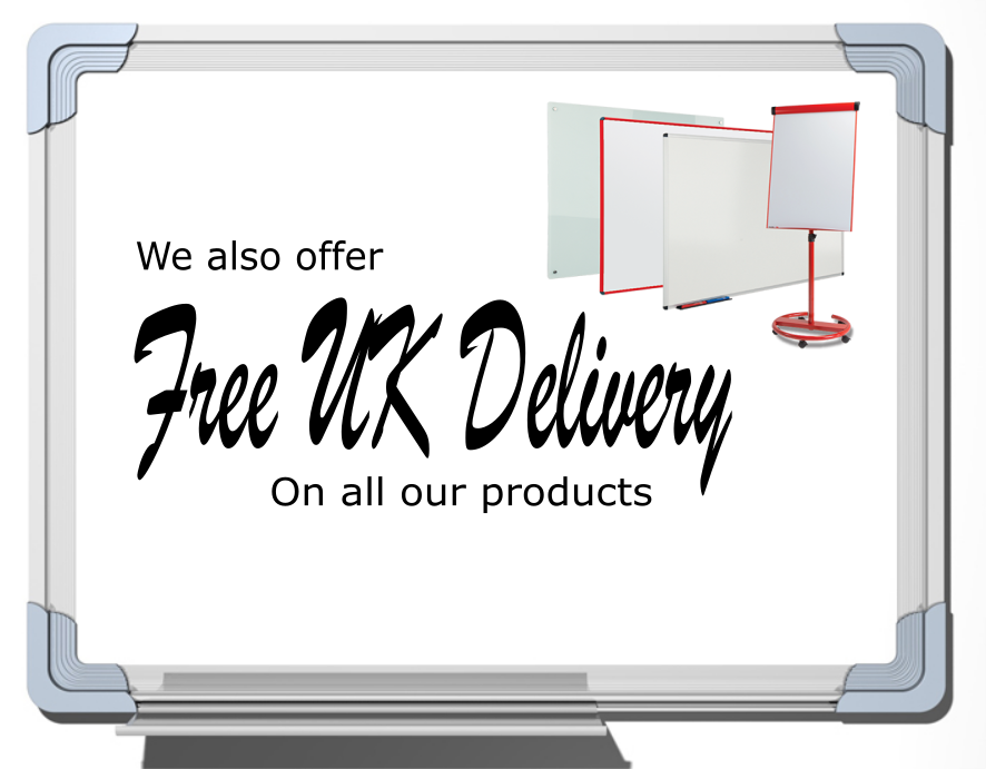 Free Uk Delivery Whiteboard Banner