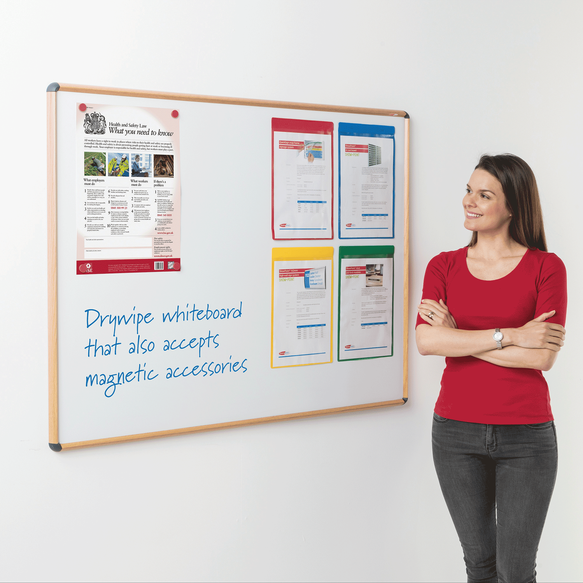 Wood Effect Magnetic Whiteboards