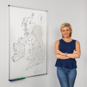 UK Outline Map Whiteboard
