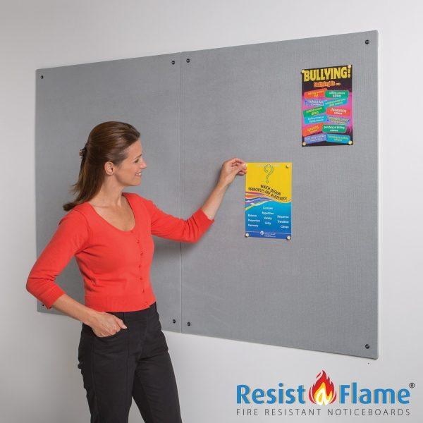 Frameless Flame Resistant Noticeboard