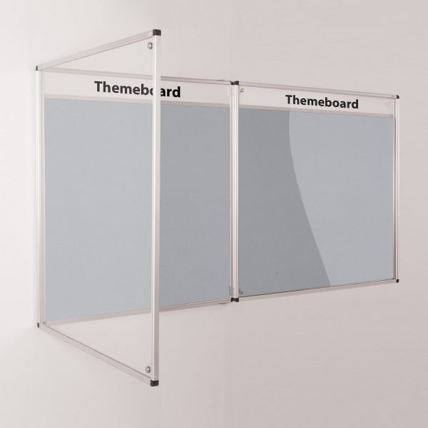 Two Themeboard Tamperproof Noticeboard